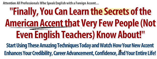american accent audio course American Accent Training