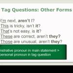 English Grammar Video 29-2 Tag Questions