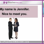 eTeacher English Lesson 1 Saying Hello