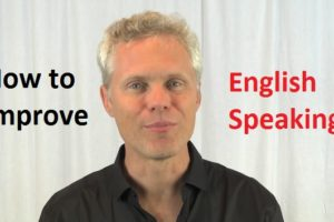 how to improve English speaking at home