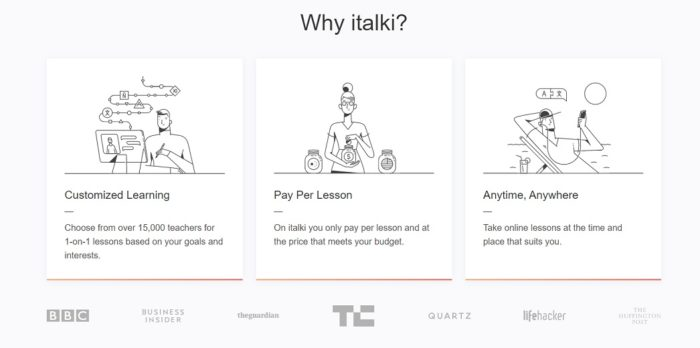 advantageous of learning English with italki